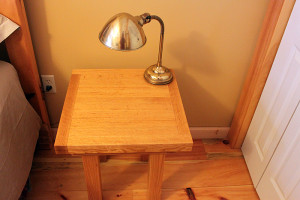 Oak Bed Side Table