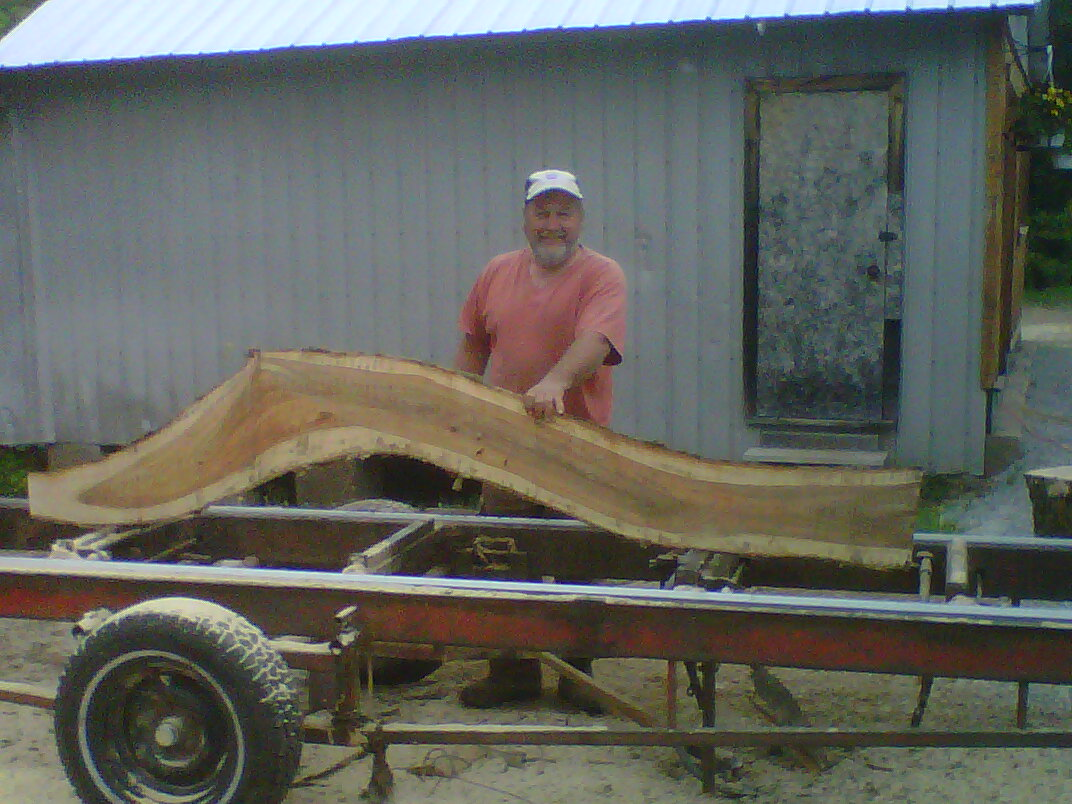 Randy Wood - Milling the trees at Tinhouse Woodworking - Next Year's Furniture