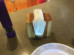 Napkin holder - made with wood cut-offs