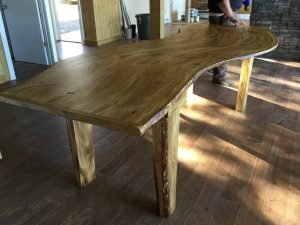 Curved Harvest Table