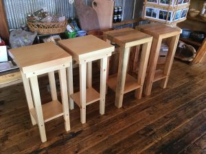 Pine and mixed wood bedside tables